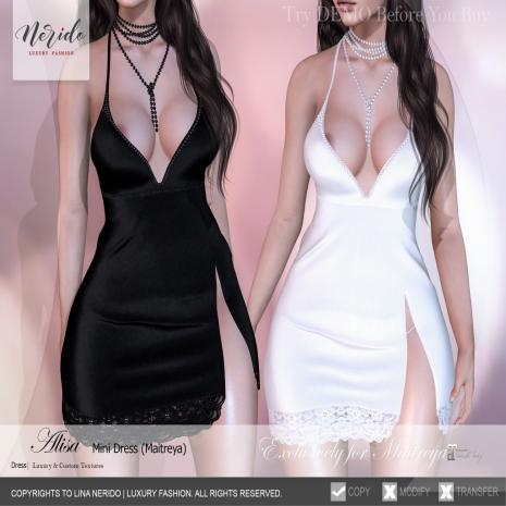 ~Nerido~Alisa Mini Dress_String(Maitreya)