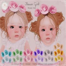 {TinyTrinkets}Flower Girl Roses Veil