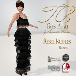 Tres Beau Rebel Ruffles Black AD