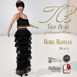 Tres Beau Rebel Ruffles Black AD