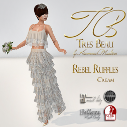 Tres Beau Rebel Ruffles Cream AD