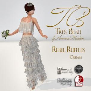 Tres Beau Rebel Ruffles Cream AD