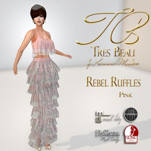 Tres Beau Rebel Ruffles Pink AD