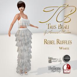 Tres Beau Rebel Ruffles White AD