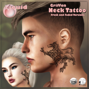 Liquid ~ Griffon Neck Tattoo