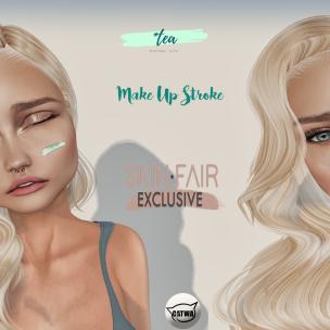 Tea Make up Stroke ad - Exclusive Skin fair
