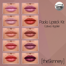 [theSkinnery] Paola Lipstick Kit (Catwa Applier) @ SF 2018