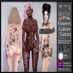WR - Flowers Galore Tattoo Skin Fair