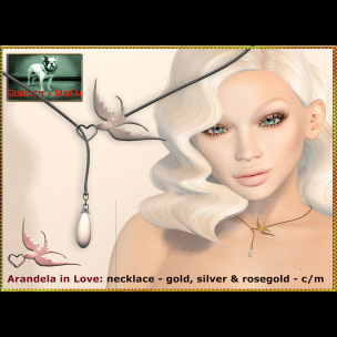 Bliensen - Arandela in Love - necklace - 3 metals Ad