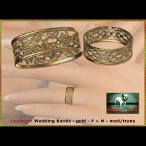 Bliensen - Leannan - Wedding Bands - gold - F+M Ad