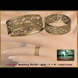 Bliensen - Leannan - Wedding Bands - gold - F+M Ad