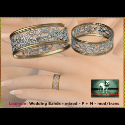 Bliensen - Leannan - Wedding Bands - mixed - F+M Ad