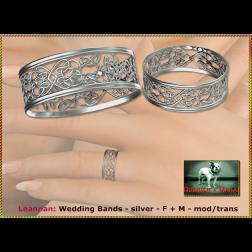 Bliensen - Leannan - Wedding Bands - silver - F+M Ad