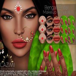 CAZIMI Bengali Bridal Ad 4X3 for Trunk Show April