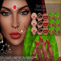 CAZIMI Bengali Bridal Ad 4X3 for Trunk Show April