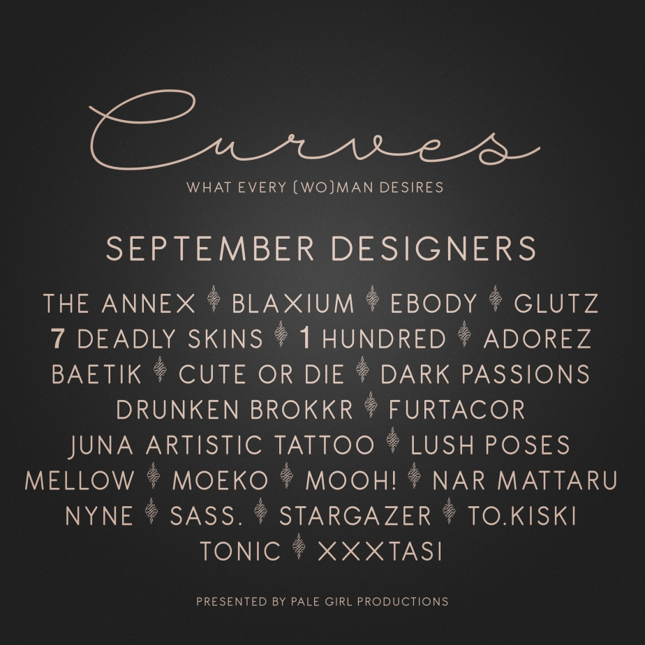Curves – September is OPEN!
