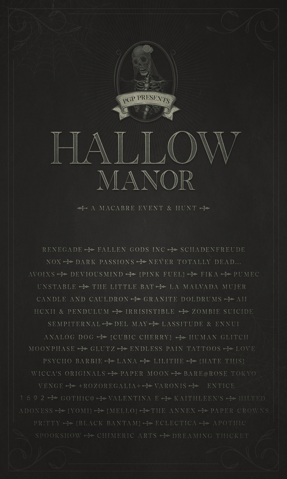 Hallow Manor Designers!