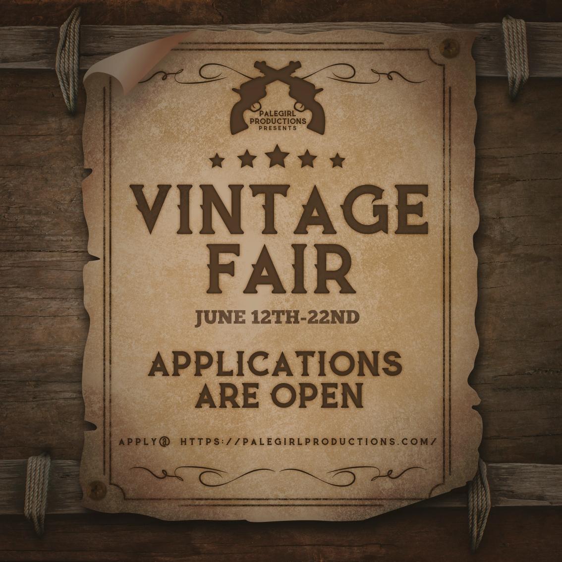 Vintage Fair 2020- DesignerApplication